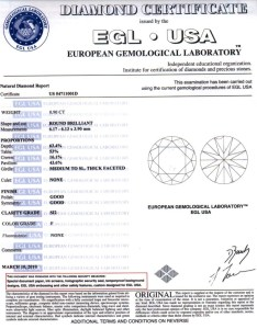Egl also diamond certificate rh info