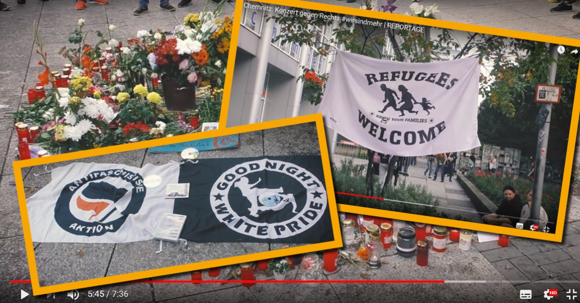 Antifa provoziert am tatort in chemnitz