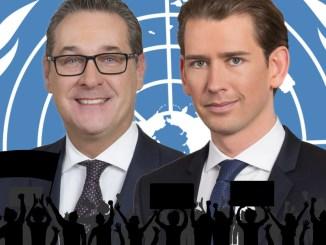 HC Strache, Sebastian Kurz, Österreich, Nein zum UN-Migrationspakt