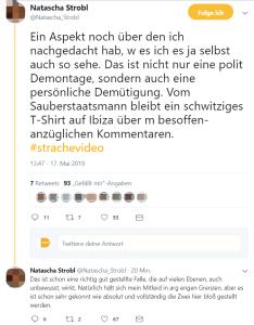 Natscha Strobl über HC Strache