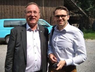 Johann Singer (ÖVP) und Michael Scharfmüller (Info-DIREKT)