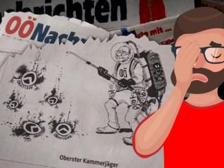Interview mit dem Zeichner der Ungeziefer-Karikatur.