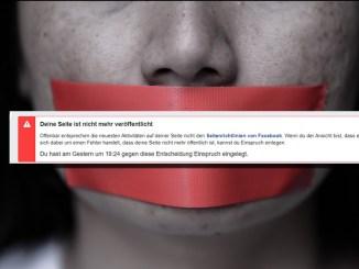 Auf Facebook wütet die Zensur.