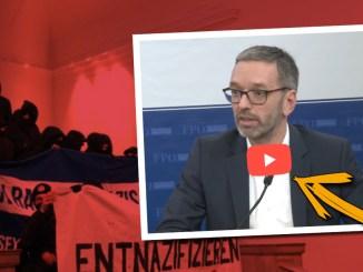 Antifa-Gewalt an Uni: Herbert Kickl (FPÖ) fordert Bildungsminister Heinz Faßmann (ÖVP) zum Handeln auf