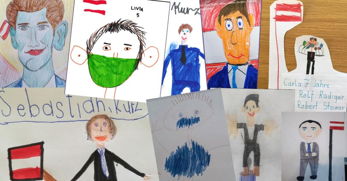 ORF-Schülerradio ruft Kinder dazu auf Kanzler Kurz zu zeichnen