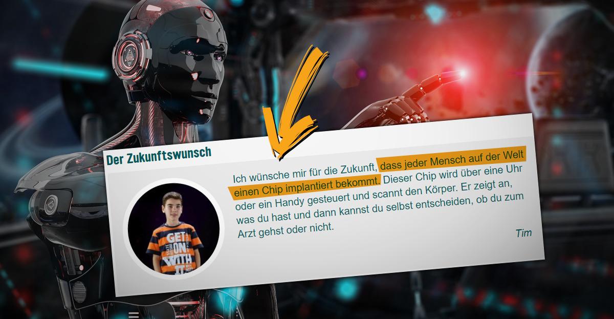 Beim deutschen Kindersender KIKA wird das Chippen von Menschen übertrieben positiv und einseitig dargestellt.