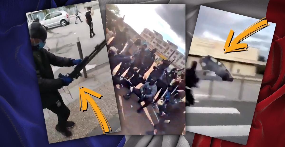 In Dijon, Frankreich, ist zwischen Nordafrikanern und Tschetschenen ein offener bewaffneter Bürgerkrieg ausgebrochen.
