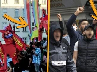 Vier Tage lang kam es zu gewalttätigen Ausschreitungen zwischen Kurden und Türken in Wien