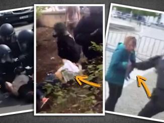 Bei der Querdenken Demo in Berlin kam es durch Polizeibeamte zu vielfachen gewalttätigen Übergriffen auf Frauen.