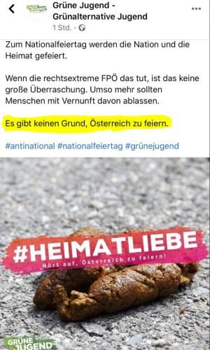 """Facebook-Posting der """"Grünen Jugend"""""""