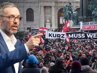 Kickl (FPÖ) spricht bei Demo gegen den Corona-Wahnsinn am 31.1