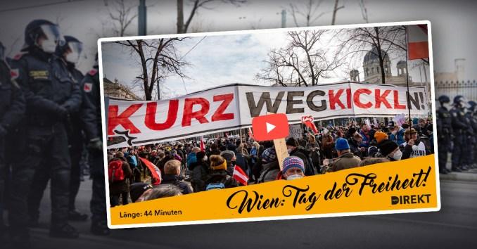 Tag der Freiheit in Wien, am 31. Jänner 2021