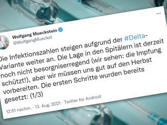 Die Tweets von Gesundheitsminister Mückstein entsprechen nicht immer dem Stand der Wissenschaft.