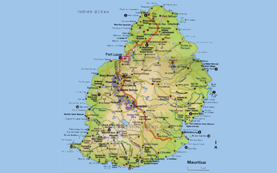 Map of Mauritius Mauritius on Google Map