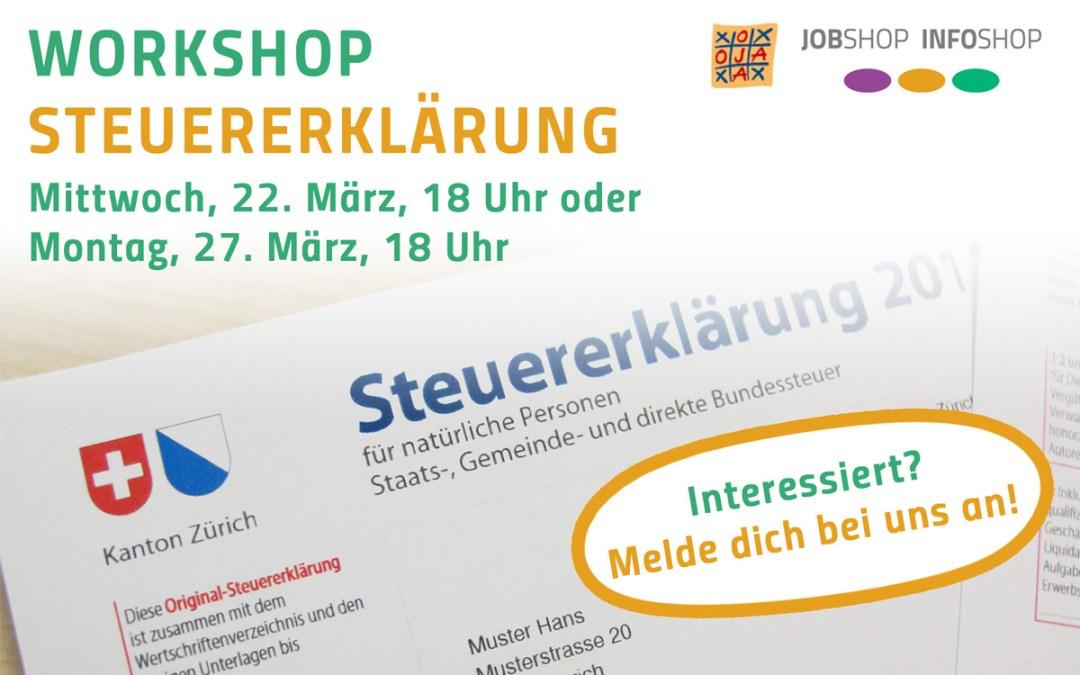 Workshop Steuererklärung