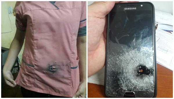 Un teléfono celular salvó la vida de una joven durante un asalto