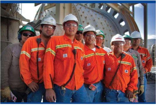Trabajadores en Minera Alumbrera