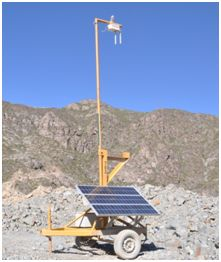 Antena Wifi alimentada con panel solar