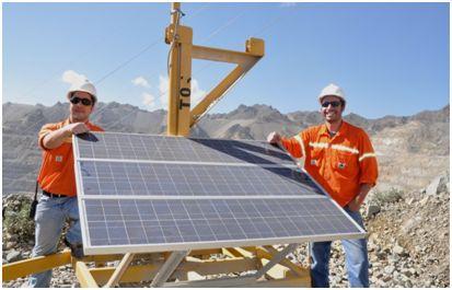 Paneles Solares en antenas wifi