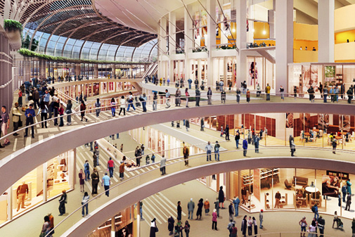 Les Boutiques De Luxe Du Centre Commercial Marina Bay Sands à Singapour © Yoursingapore.com
