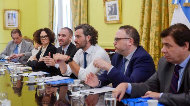 Santiago Cafiero y el gabinete económico (Presidencia)