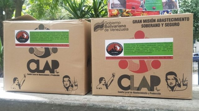 Las cajas CLAP vienen pon publicidad del grupo guerrillero ELN