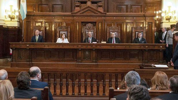 Los miembros de la Corte Suprema de Justicia (foto de archivo: NA)