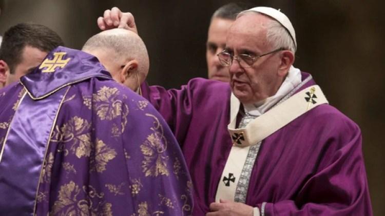 El papa Francisco celebra el Miércoles de Ceniza