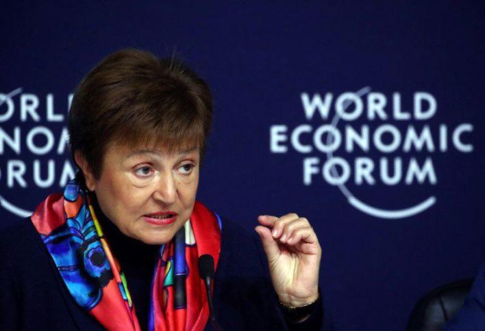 """La directora gerente del FMI, Kristalina Georgieva, adelantó en el Foro de Davos que el crecimiento económico viene """"perezoso"""""""