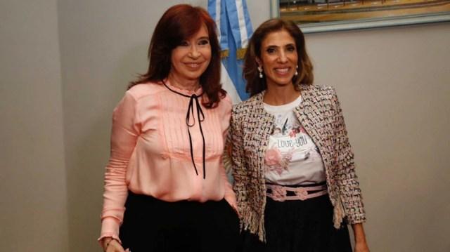 Cristina Kirchner junto a Claudia Ledesma Abdala, la nueva presidenta provisional del Senado