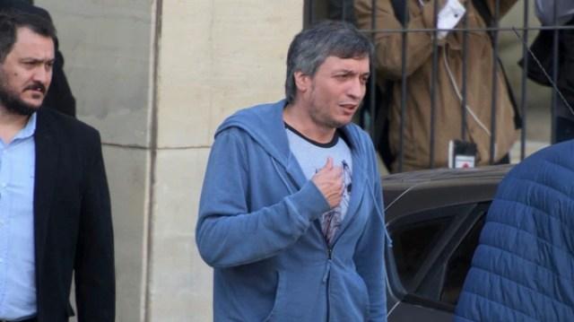 Máximo Kirchner en los tribunales de Comodoro Py