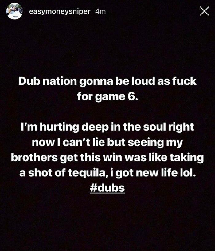 Kevin Durant emitió un mensaje en las redes sociales tras el Juego 5 ante los Raptors