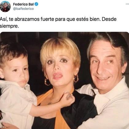 La tierna imagen que publicó Federico junto a Carmen y Santiago