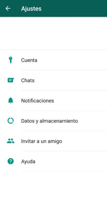 Para cambiar el número sólo debes ingresar al menú de la app en su dispositivo (Captura de pantalla)