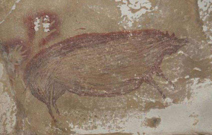 Pintura rupestre de 45.500 años en Indonesia (Europa Press)