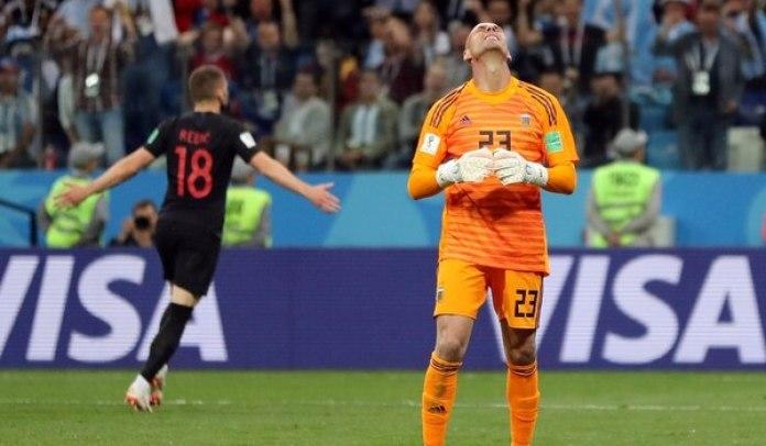 Willy Caballerofue el responsable del gol de Rebic (REUTERS/Ivan Alvarado)