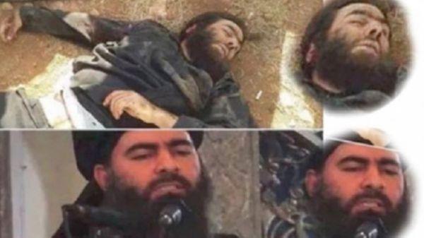Supuestas imágenes del cadáver de Al Baghdadi divulgadas por medios iraníes. Luego se supo que eran falsas