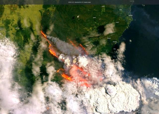 Imagen satelitales de la bahía Batesman (Reuters)