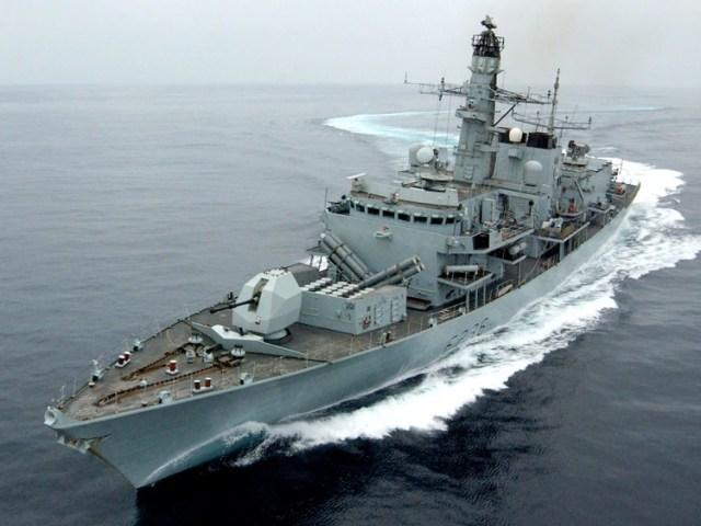 La fragata británica HMS Montrose (AFP)