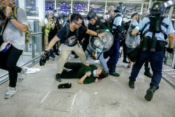 La policía de Hong Kong ha reprimido a los manifestantes pro democracia (REUTERS/Thomas Peter)