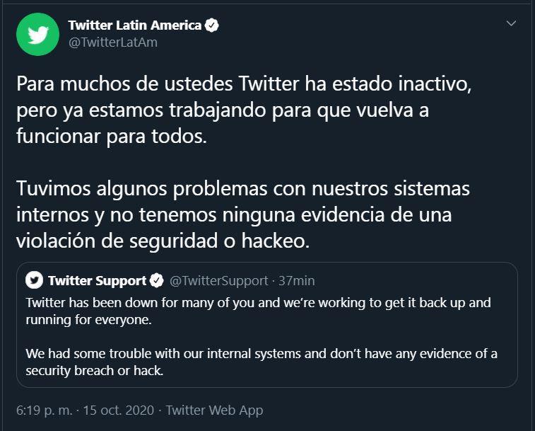 (Captura de pantalla: Twitter)