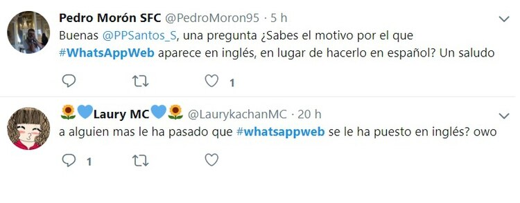 Varios usuarios reportaron incidentes en WhatsApp web.