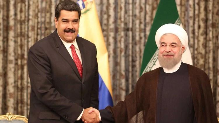 Nicolás Maduro, líder populista de Venezuela, y Hasán Rohaní, presidente de la República de Irán.