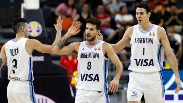 Argentina ganó el primer tiempo por 54-49 frente a Serbia (Reuters)
