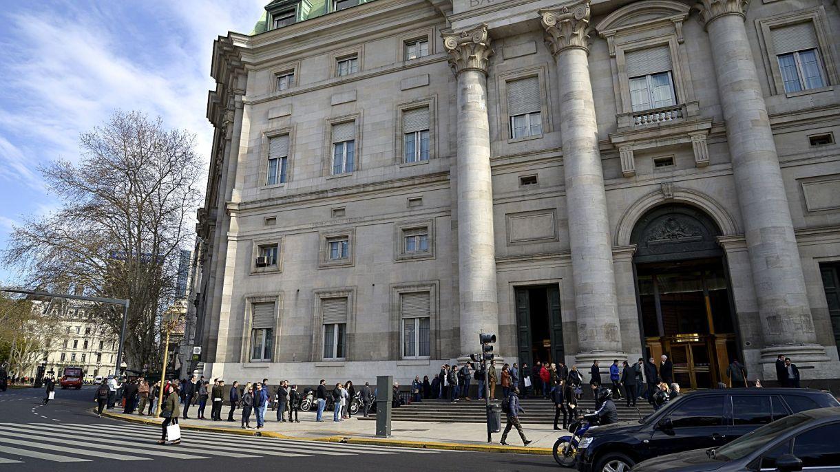 El Banco Nación, esta mañana (Gustavo Gavotti)