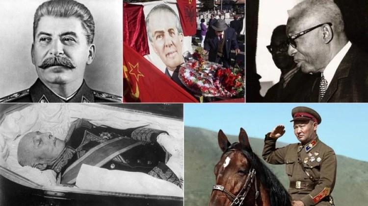 """Josef Stalin, Enver Hoxha, Francois """"Papa Doc"""" Duvalier, Francisco Franco y Khorloogiin Choibalsan"""