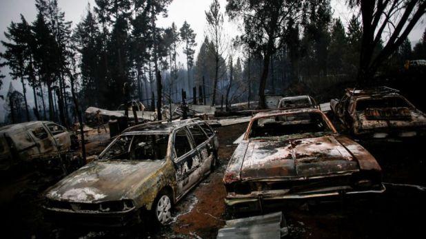 Incendios en Chubut (Foto Río Negro)