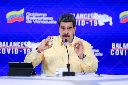 El dictador venezolano Nicolás Maduro en Caracas (Venezuela). (EFE/PRENSA MIRAFLORES)