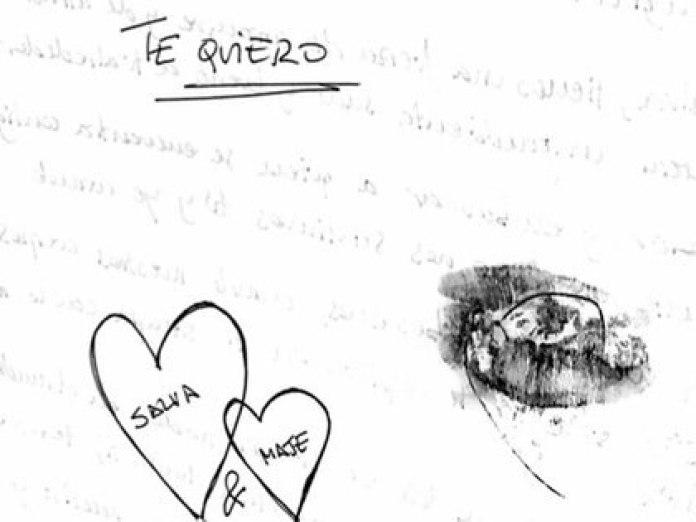 Una de las cartas que Maje le enviaba a Salva para hacerle creer que estaba enamorada de él