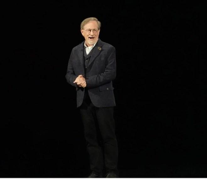 Steven Spielberg en el evento de Apple.